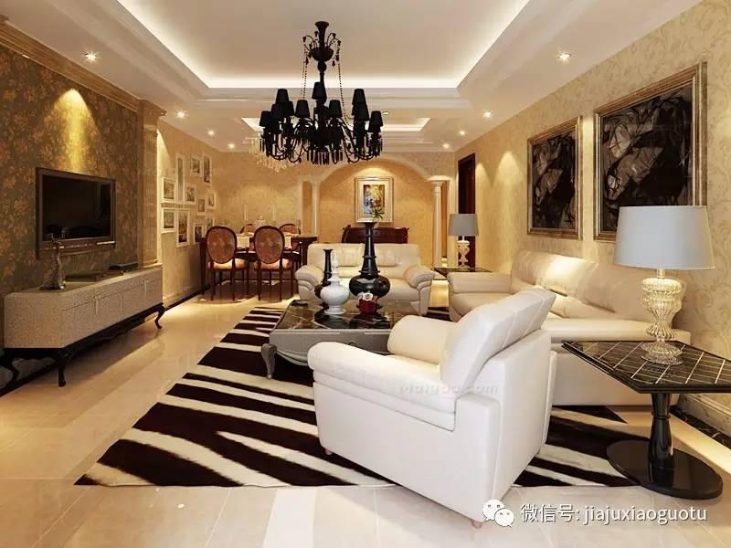 欧式客厅装修效果图 让客厅简单不失品味