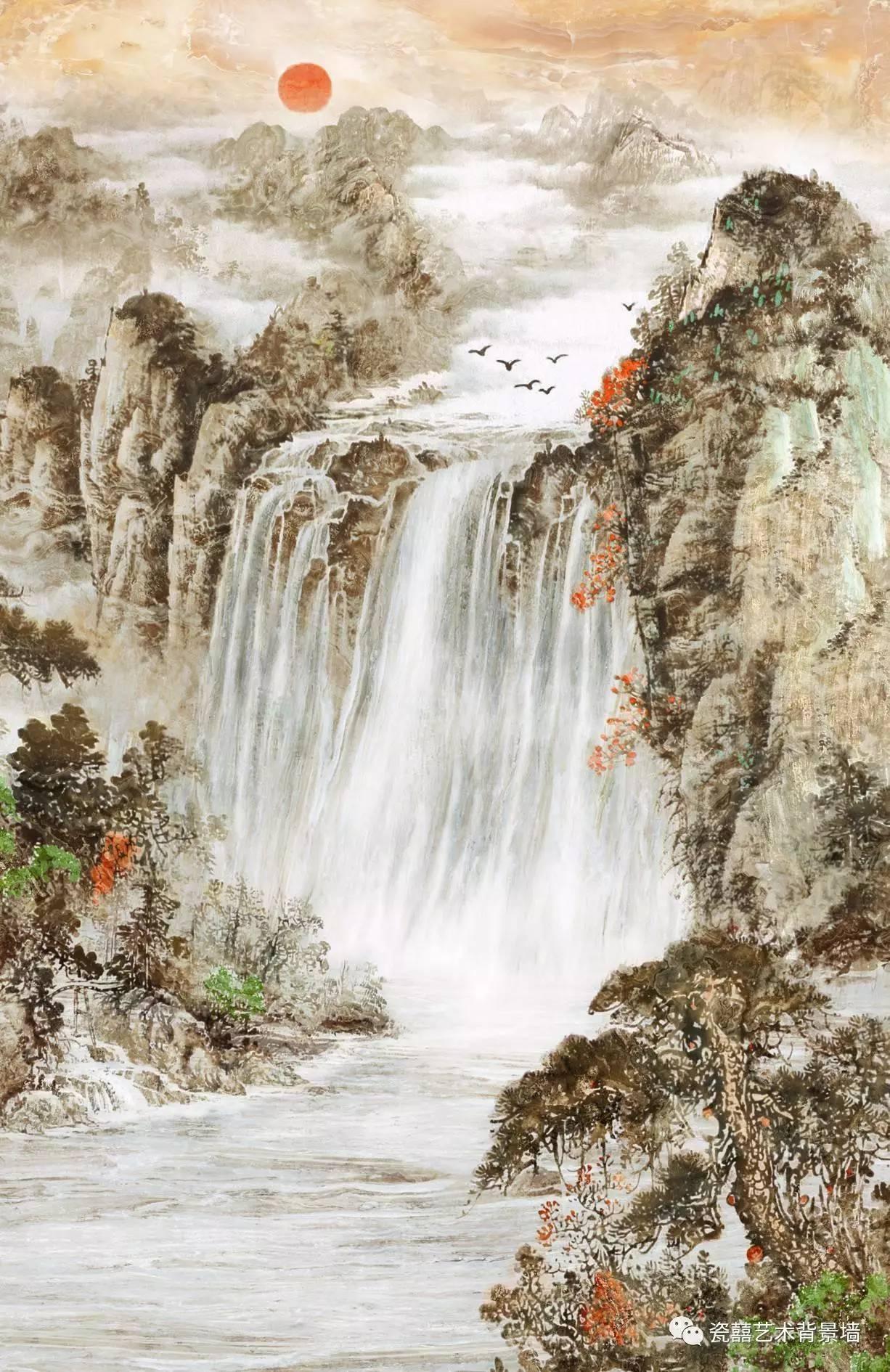 复式楼石材背景墙素材图